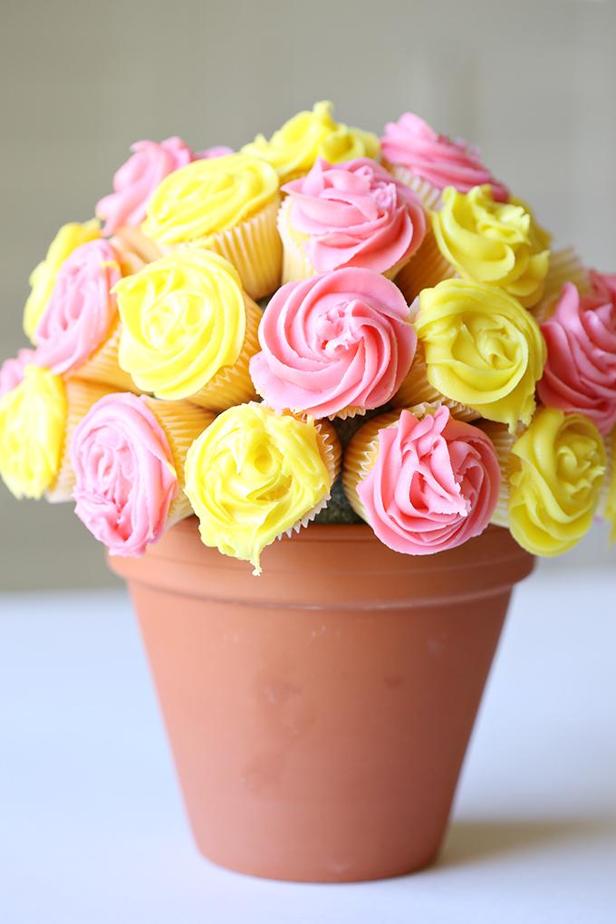 Vanilla Cupcake Flower Bouquet