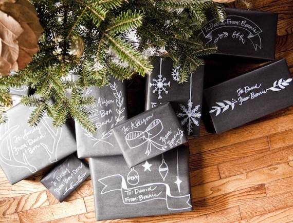 Christmas Chalkboard Wrapping