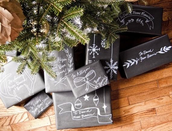 Christmas Chalkboard Wrapping