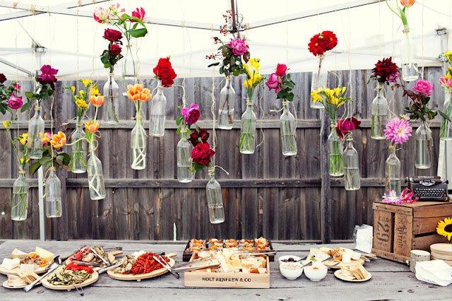 Hanging Wine Bottles Vase