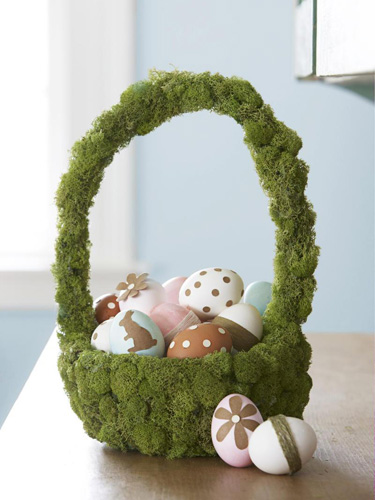 Moss Covered Basket
