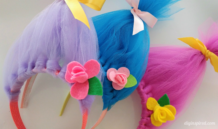 DIY Troll Hair Headbands
