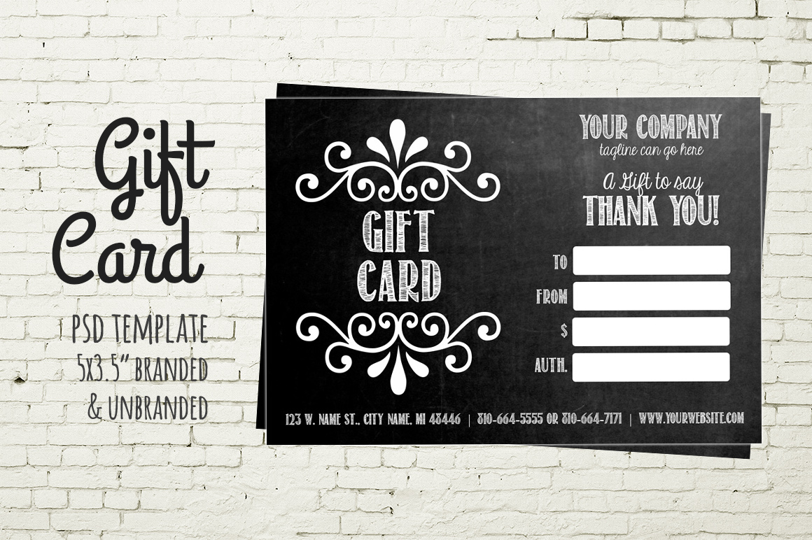 Business Card Gift Certificates