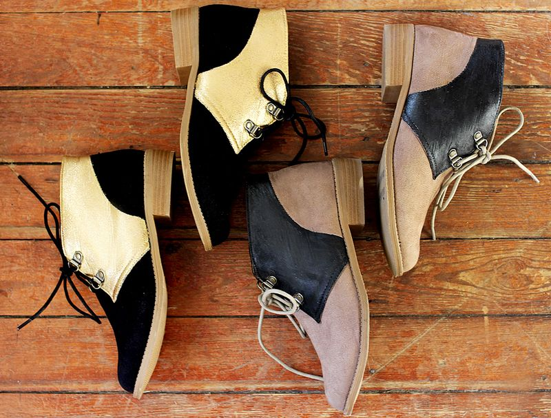 Colour Blocked Shoe DIY