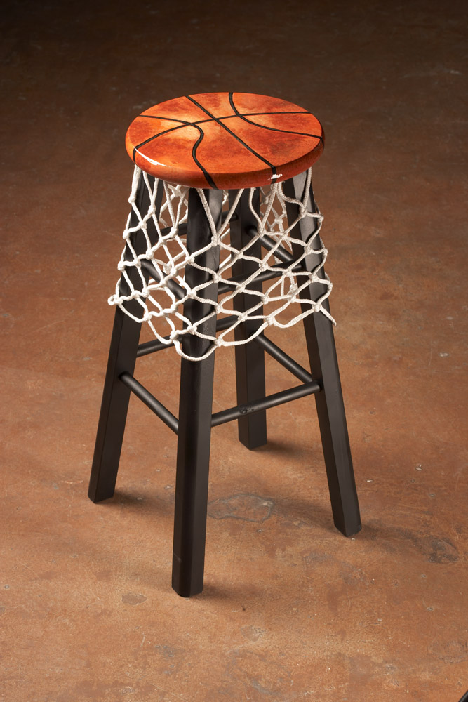 Basketball Themed Stool