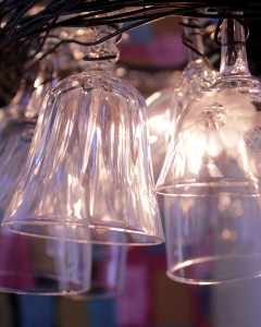 , DIY Wine Glass Chandelier