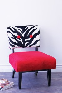 , DIY Faux Fur Chair Project