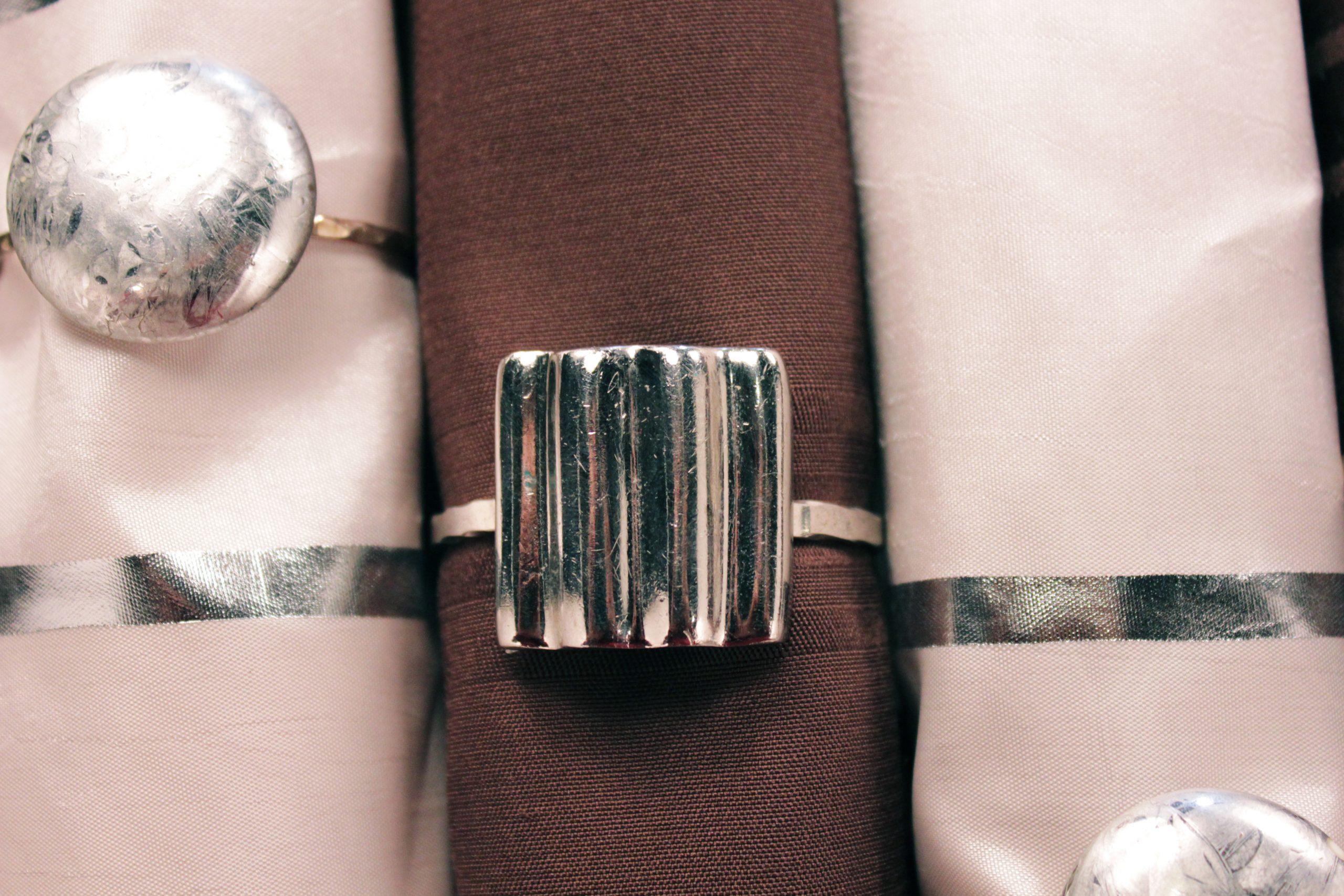 , DIY Napkin Rings from Old Earrings