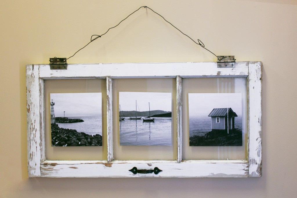 DIY Vintage Window Pane Photo Frame - Marc and Mandy Show
