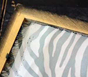 , DIY Zebra Print Frame Project
