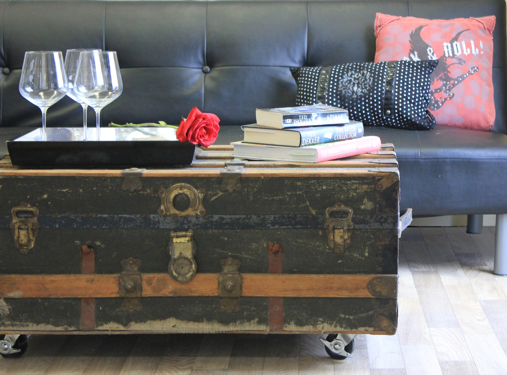 DIY Repurposed Trunk Coffee Table Marc and Mandy Show