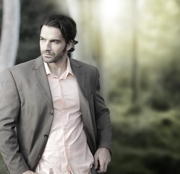 Man in suit outside