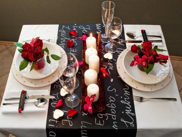 DIY Romantic table settings, 10 DIY Romantic Table Settings