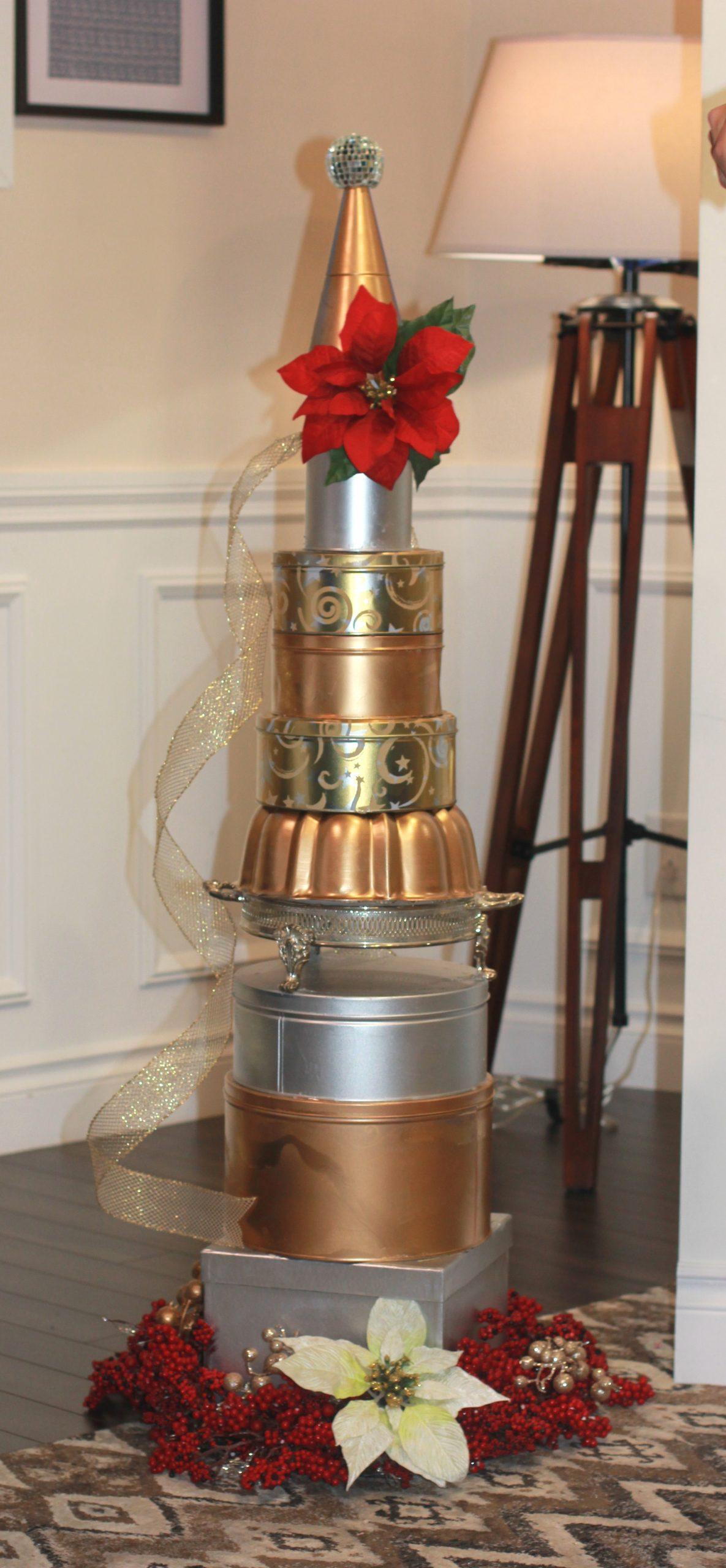 , DIY Cookie Tin Christmas Tree
