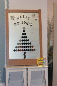 , DIY Frosted Holiday Mirror