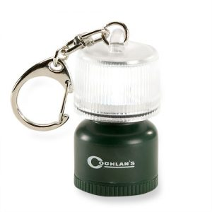 Small enough to use as a keyring but will light up everything within a 2m diameter for up to 25 hours on one battery! Available at Wilderness Supply