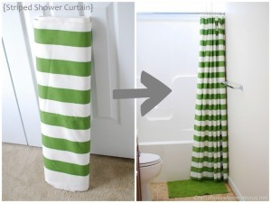 diy shower curtain ideas. 4) chevron shower curtains can be made easily using painter\u0027s tape and fabric paint to make the really cute pattern on a plain curtain. diy curtain ideas