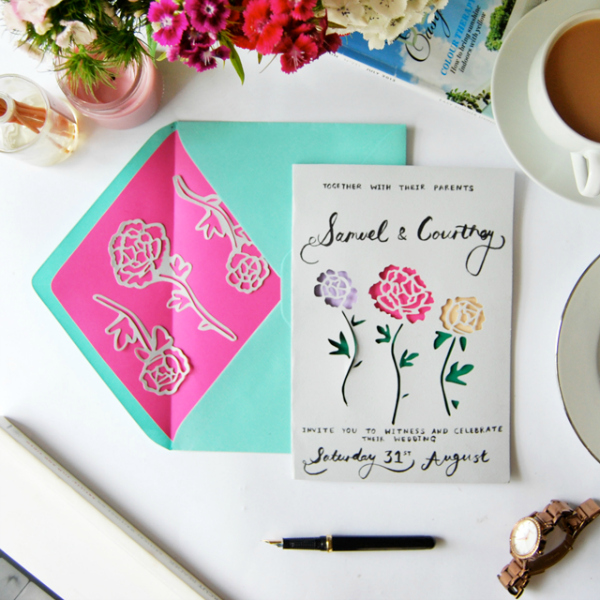 , Easy DIY Floral Invitations
