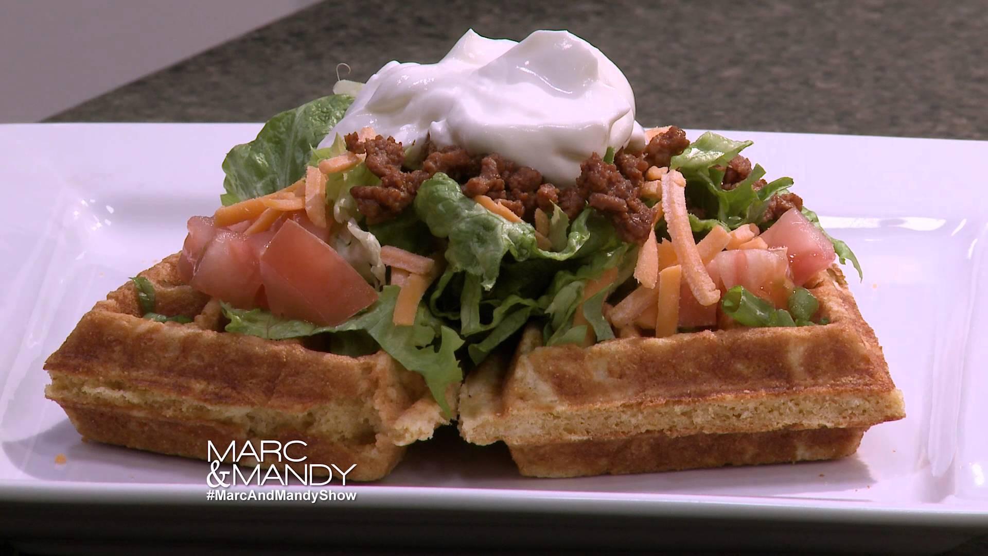 , Cornbread Taco Salad Waffle