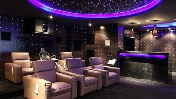 Starry Night Basement Home Theater