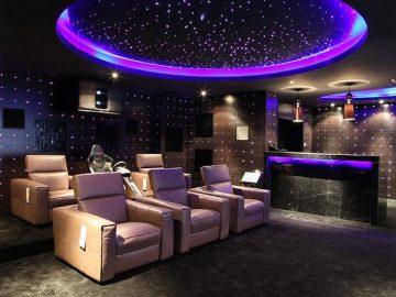 Starry Night Basement Home Theater