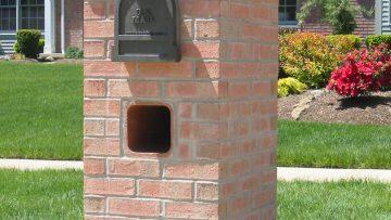 Charming Brick Wall Mailbox