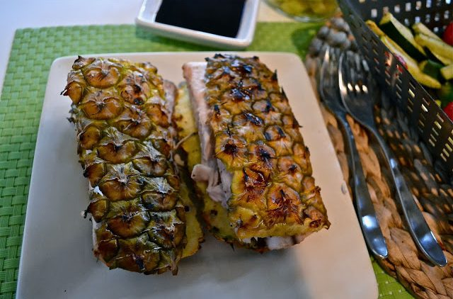 Mahi Mahi on Pineapple Bark