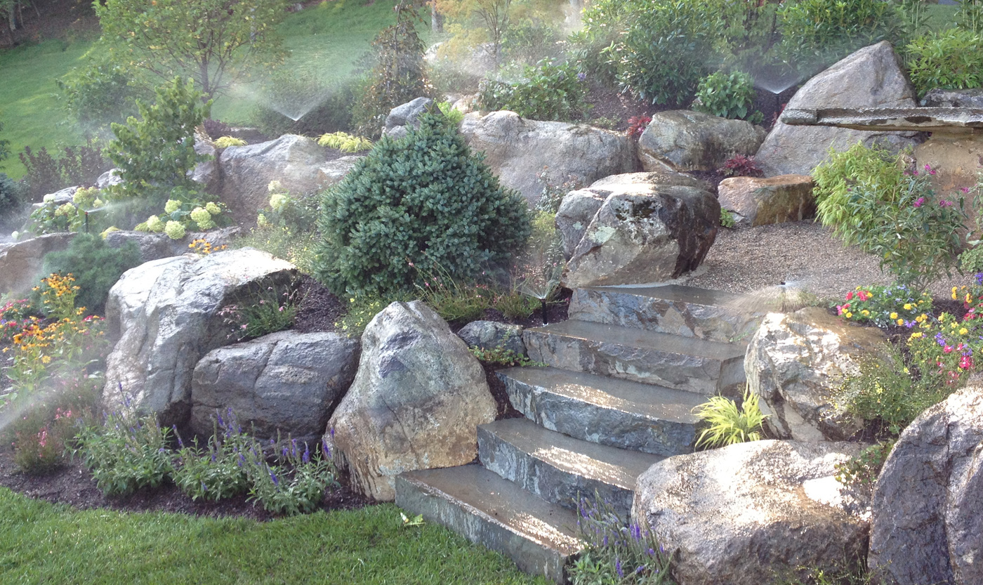 How to make your own rock garden marc and mandy show for Rock stepping stones landscaping