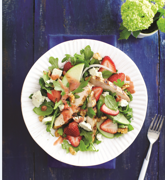 , Grilled Chicken and Strawberry Salad