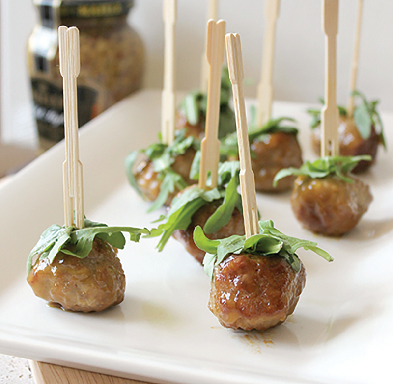 , Entertain with this Gluten-Free Peach Turkey Meatball Appetizer