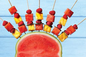 , Grilled Watermelon Skewers with Balsamic Vinegar and Black Pepper