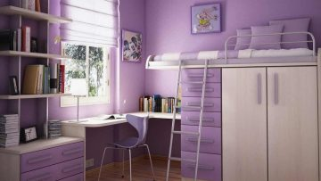 Loft Bed with Closets Underneath