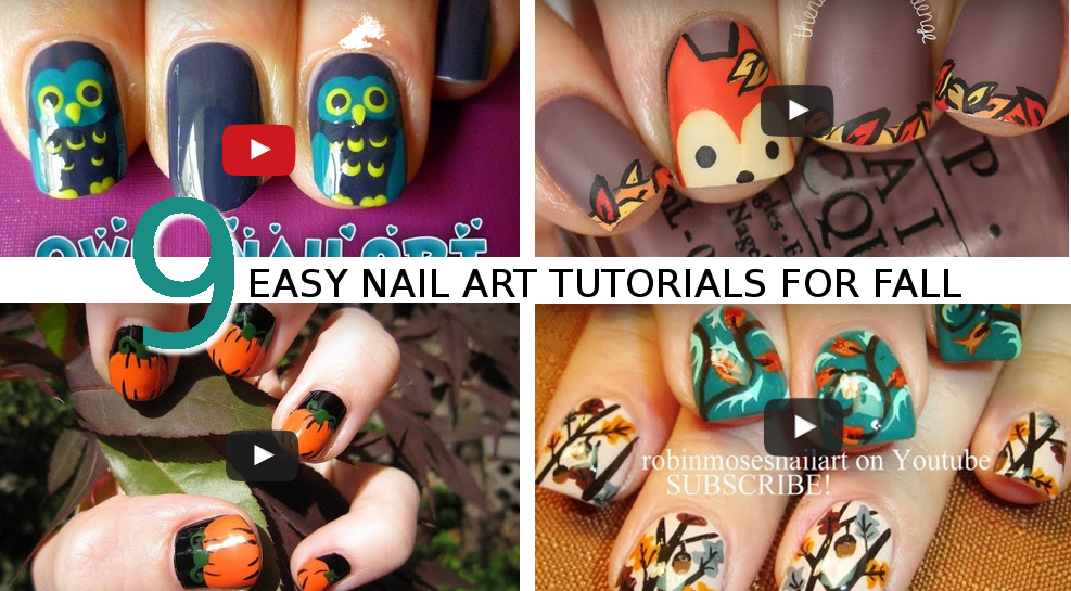 Video Tutorials Nail Art For Fall Marc And Mandy Show