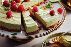 , Avocado Lime and Coconut No-Bake Cheesecake