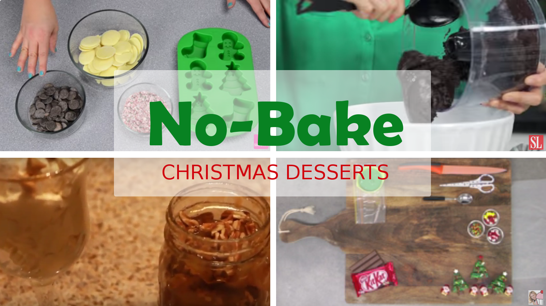 , Video Tutorials: 10 Easy No-bake Christmas Desserts