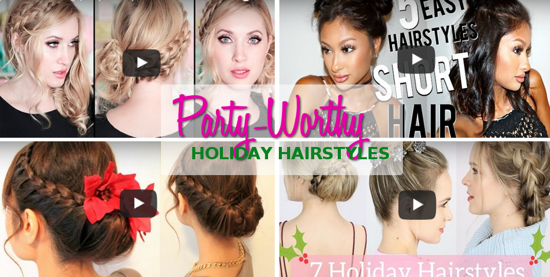 Video Tutorials Hairstyles For Your Next Christmas Party Marc And