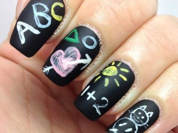7 Cute DIY School-Themed Nail Art Ideas