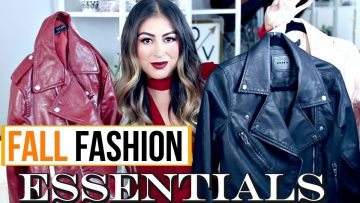 Videos: Autumn Fashion Essentials You Need in Your Closet
