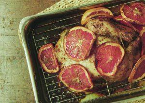 , Honey Fennel and Grapefruit Glazed Chicken