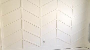 Herringbone Wainscoting
