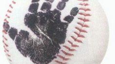 Hand Print Baseball