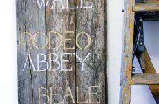 , DIY Repurposed Weathered Wood Sign