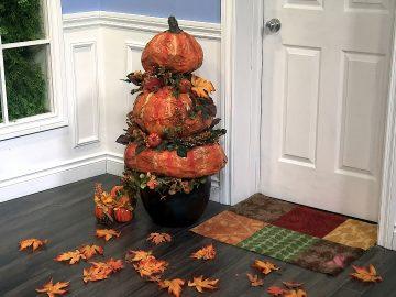 M&M_S14E06_Paper Mache Door Pumpkins DIY