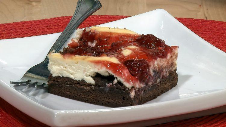 M&M_S15E03_Cherry Cheesecake Brownies