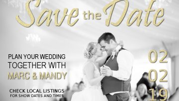 wedding graphic for mandm
