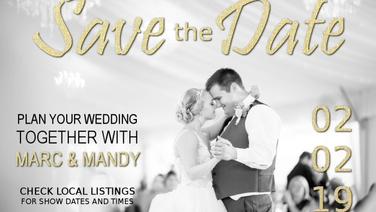 wedding graphic for mandm